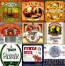 Example of beer bottle labels collection