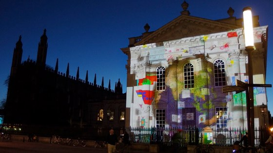 Planet of Light projection at e-Luminate Cambridge Festival 2014