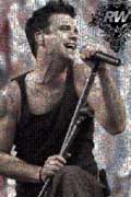 Robbie Williams Mosaic and other photo mosaics made with Mazaika.