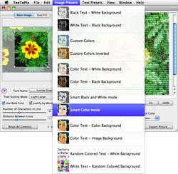 Screenshot of TexToPix for Mac OS X main screen