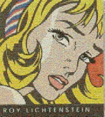 Roy Lichtenstein painting made from comic and book covers.