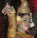 Dancing Cambodian Girl multi-sized layers mosaic