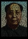 Mao TexToPix portrait filled with Wikipedia text