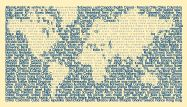 TexToPix picture - World map filled with world countries names