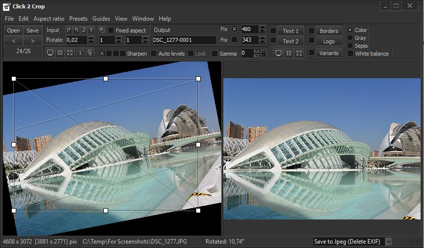 Click 2 Crop - the fast and easy photo editor