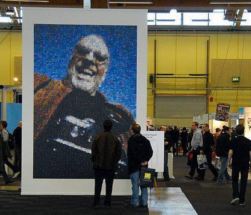 2.5x3.7m (8'x12') @ 200dpi printed mosaic